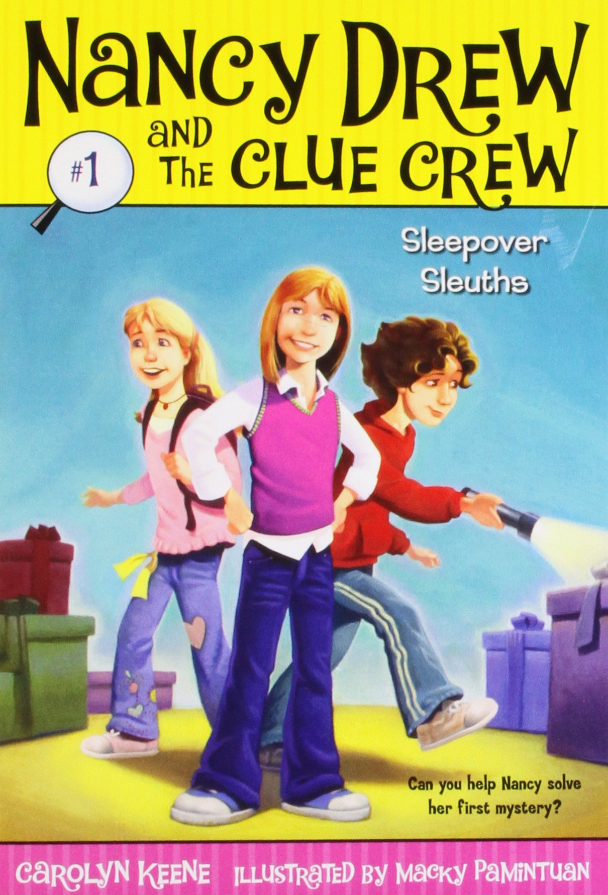 Download Sleepover Sleuths (Nancy Drew and the Clue Crew #1) pdf