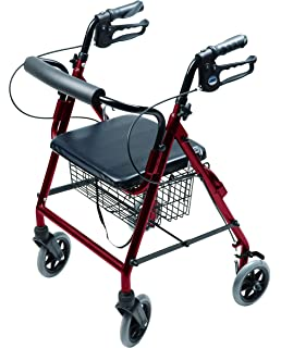 Amazon.com: Lumex rj4302b WALKABOUT Four-Wheel Hemi Rollator ...