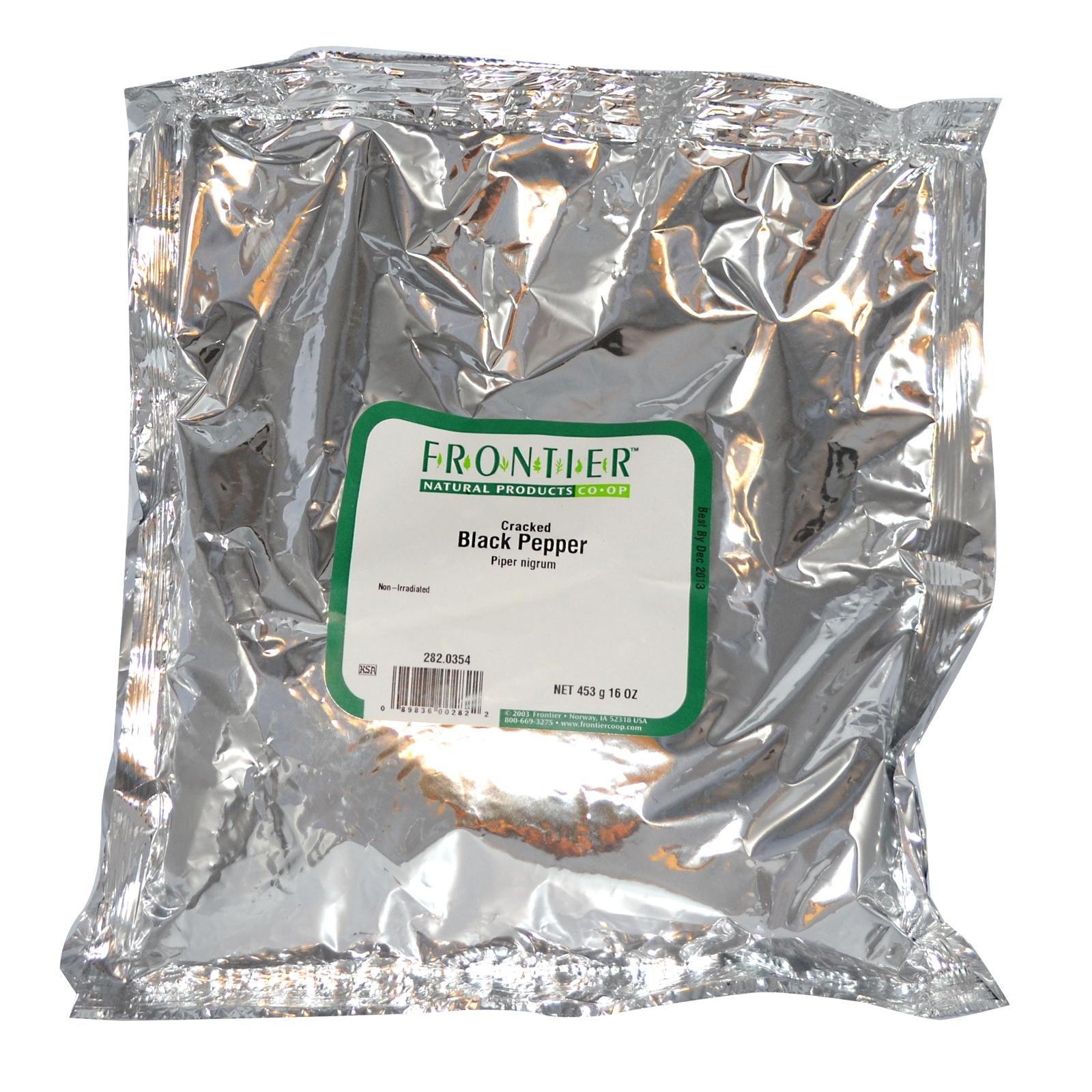 Black Pepper Cracked 10 Mesh - 1 lb,(Frontier)