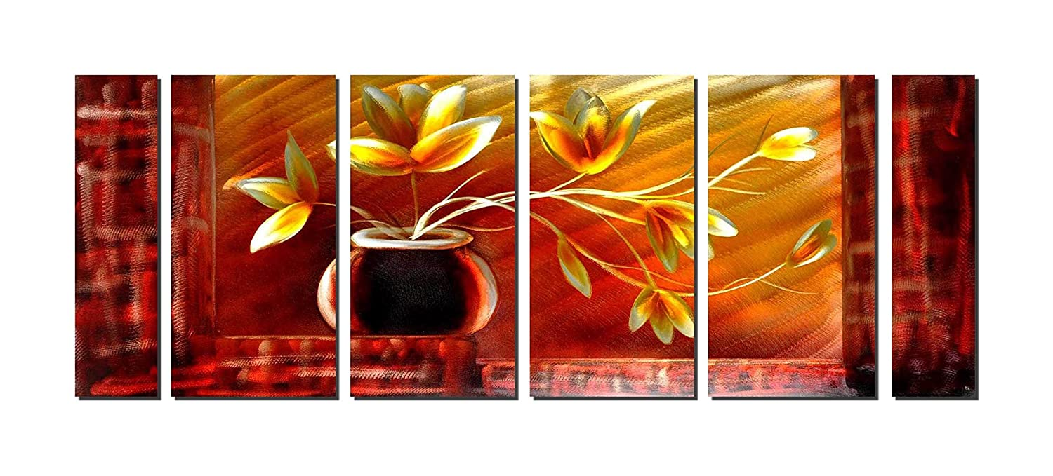 Amazon Com Konda Art Original Handcraft Flower Design Metal Wall