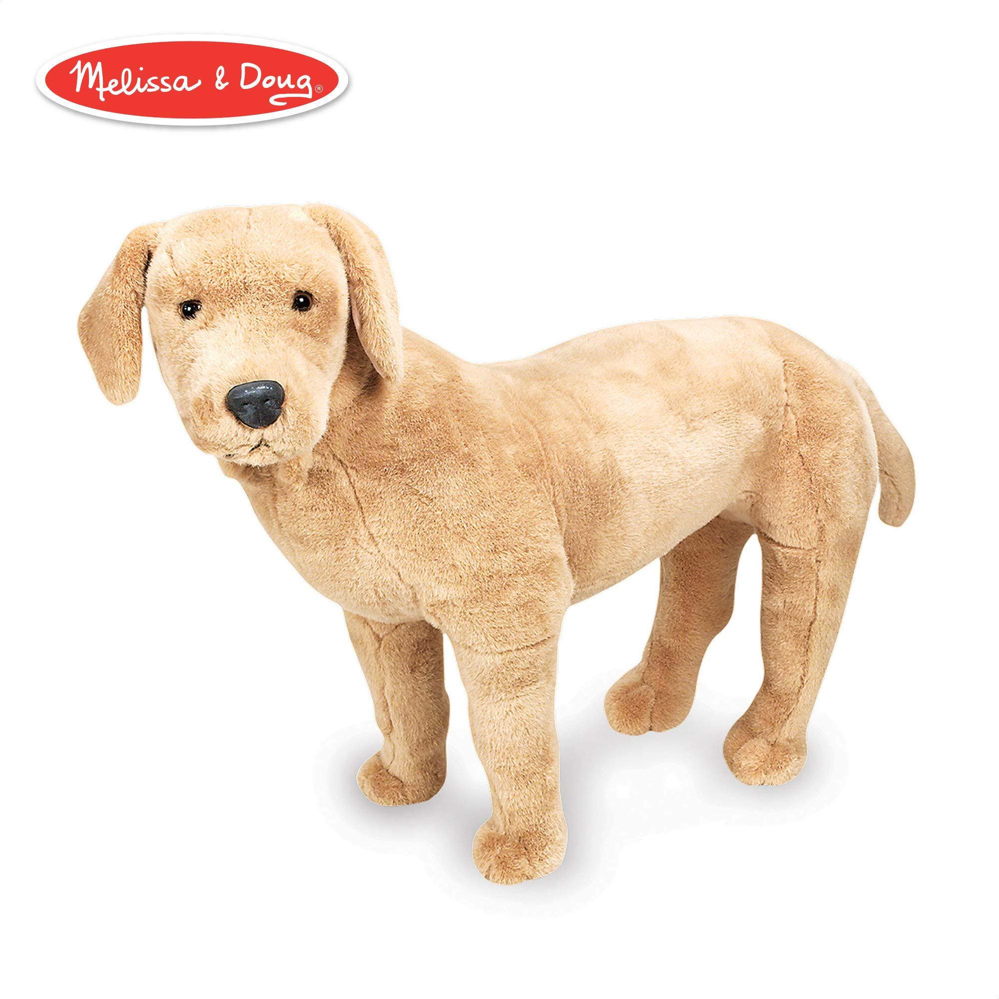 Melissa & Doug Giant Yellow Labrador - Lifelike Stuffed Animal Dog (nearly 2 feet tall) by Melissa & Doug