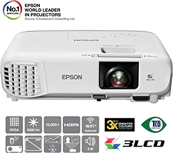 Epson EB-S39 Video - Proyector (3300 lúmenes ANSI, 3LCD, SVGA ...