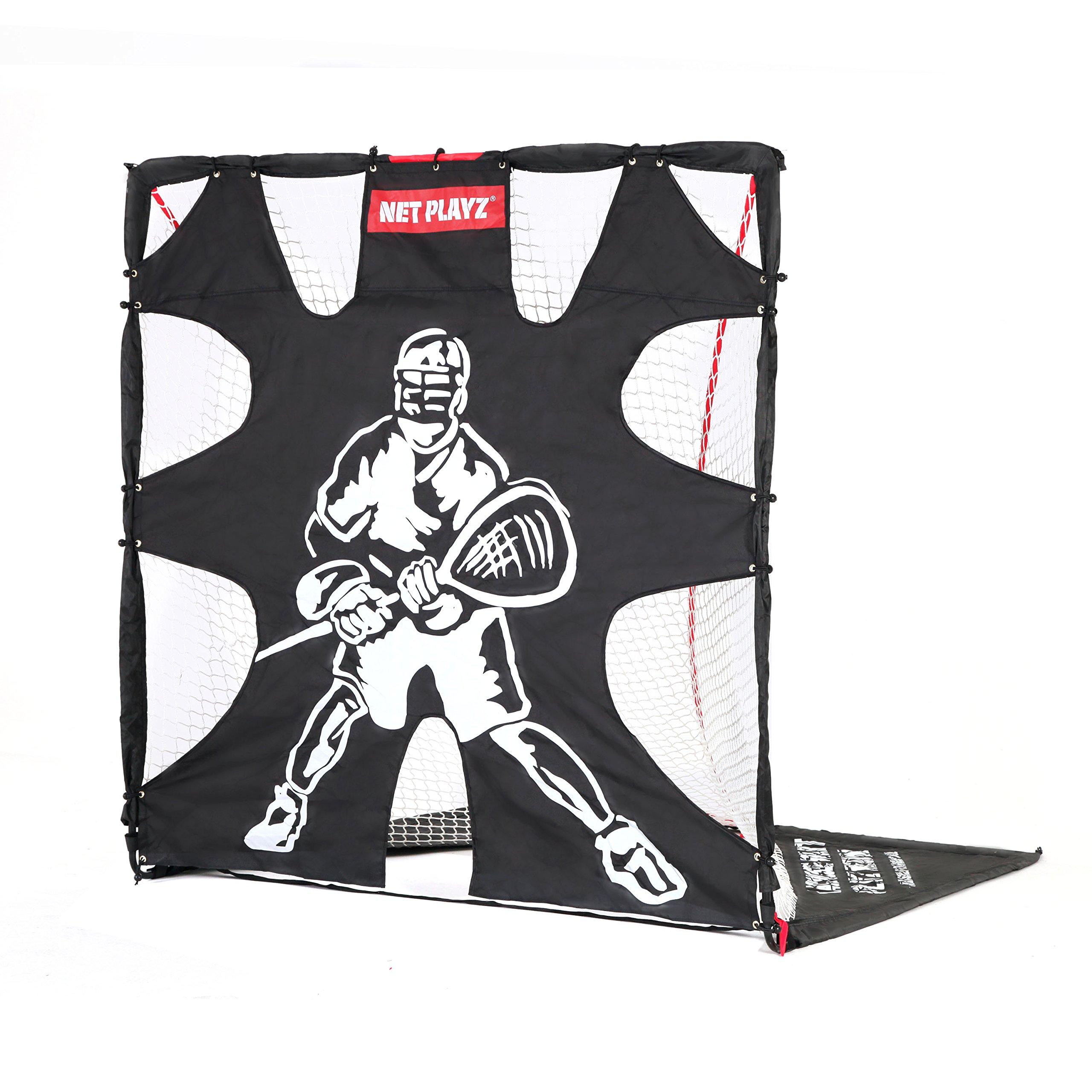 Tri Great USA CORP Net Playz Easy Setup Fiberglass Lacrosse Goal, 6' x 6'