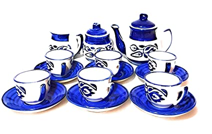 2ab6b2d3bf Image Unavailable. Image not available for. Colour: swadeshi ceramics Hand  Painted Miniature Toy Tea Cup Set ...