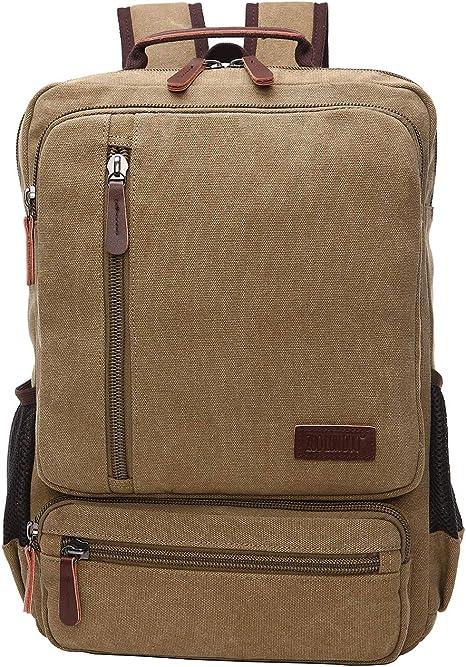 Canvas Backpack Mens Women School Travel Rucksack Laptop Satchel Shoulder Bag
