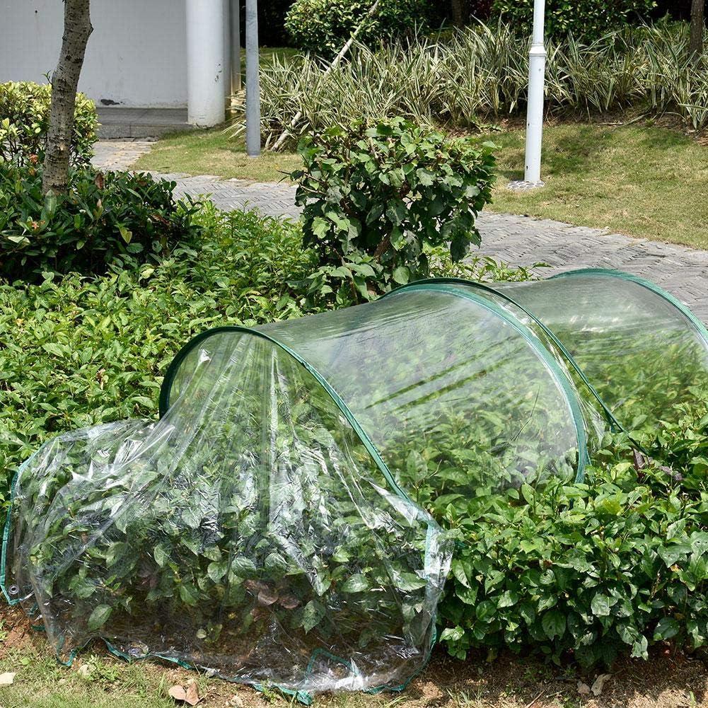 wonderday Túnel de Crecimiento de PVC Transparente, Túnel de jardín Plegable con Arco Cubierta Vegetal Protector Vegetal Mini Invernadero, a Prueba de frío, anticongelante, a Prueba de pájaros: Amazon.es: Hogar
