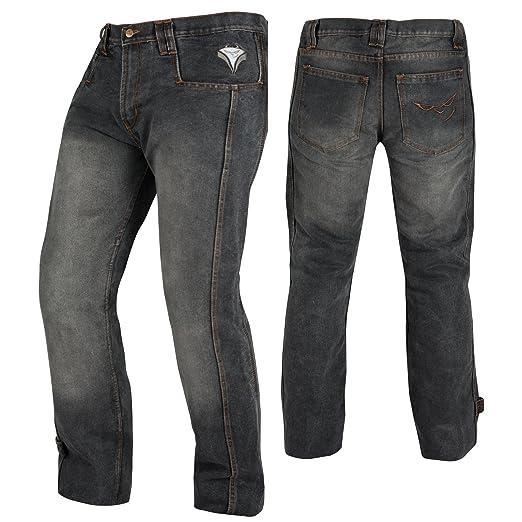 2 opinioni per Jeans Pantaloni Moto Scooter Protezioni CE Omologate Rinforzo Fianchi Nero 34