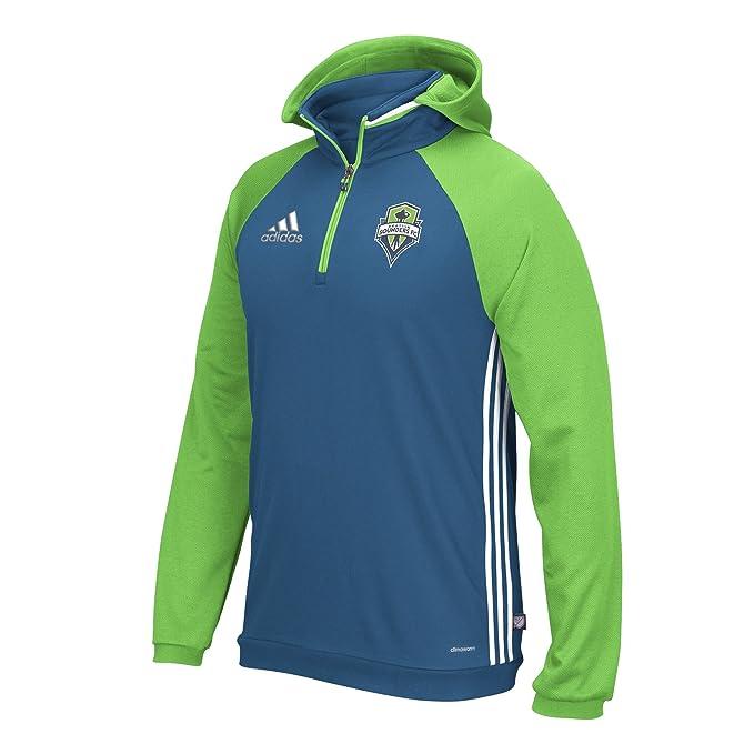adidas Hombre (Fútbol Fútbol Seattle Sounders Viaje Sudadera con Capucha con Capucha Top,: Amazon.es: Ropa y accesorios