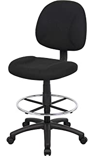OCC Drafting Stool With Foot Ring And No Arms In Black Fabric Drafting Chair