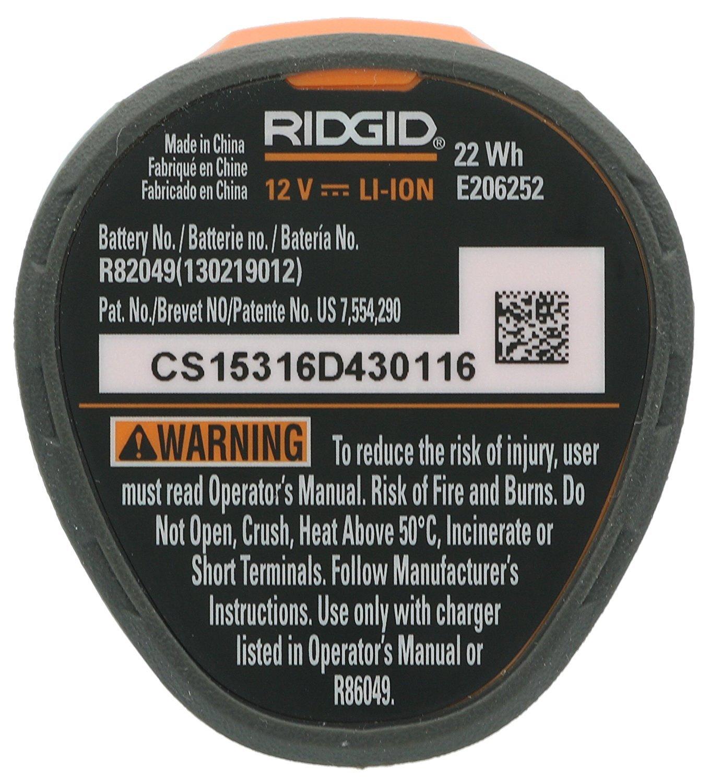Ridgid AC82049 Genuine OEM Compact Hyper Lithium Ion 2.0 Amp Hour 12V Battery by Ridgid (Image #2)