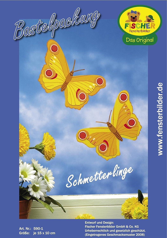 Fischer Fensterbild SCHMETTERLINGE / Bastelpackung / je 15 x 10 cm ...