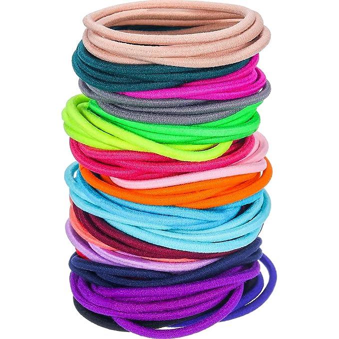 100 assorted hair accessories bobbles elastics ponios clips slides grips in bag