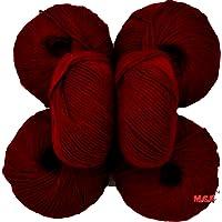 Vardhman Acrylic Knitting Wool, Pack of 6 (Mehroon) Baby Soft Wool Ball Hand Knitting Wool/Art Craft Soft Fingering Crochet Hook Yarn, Needle Knitting Yarn Thread Dyed