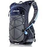 Vibrelli Hydration Pack & 2L Hydration Water Bladder - High Flow Bite Valve - Hydration Backpack with Storage - Lightweight R