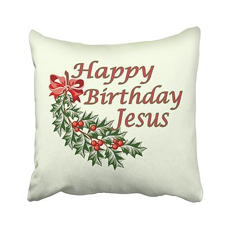 Amazon.com: emvency fundas de almohada Navidad dec Feliz ...