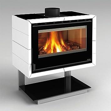 Estufa de leña La Nordica supporto con Fly, 8,5 kW, blanco: Amazon.es: Bricolaje y herramientas