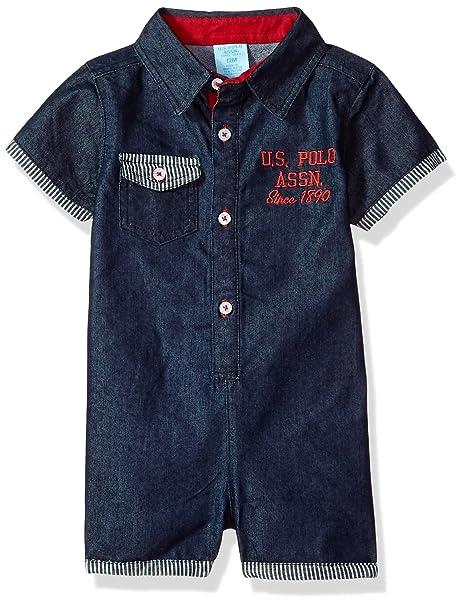Amazon.com: U.S. Polo Assn. Pelele para bebé: Clothing