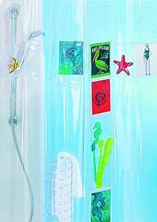 Duschvorhang Mit 100 Taschen Dusche Vorhang Deko Mit12 ... Dusch Vorhang Dekorieren Selbermachen