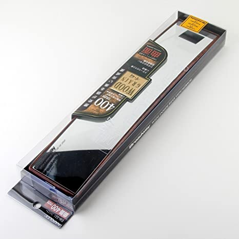 Broadway Wide Rear View Mirror with Wood Grain Look Finish 400 x 80mm Flat BW-330