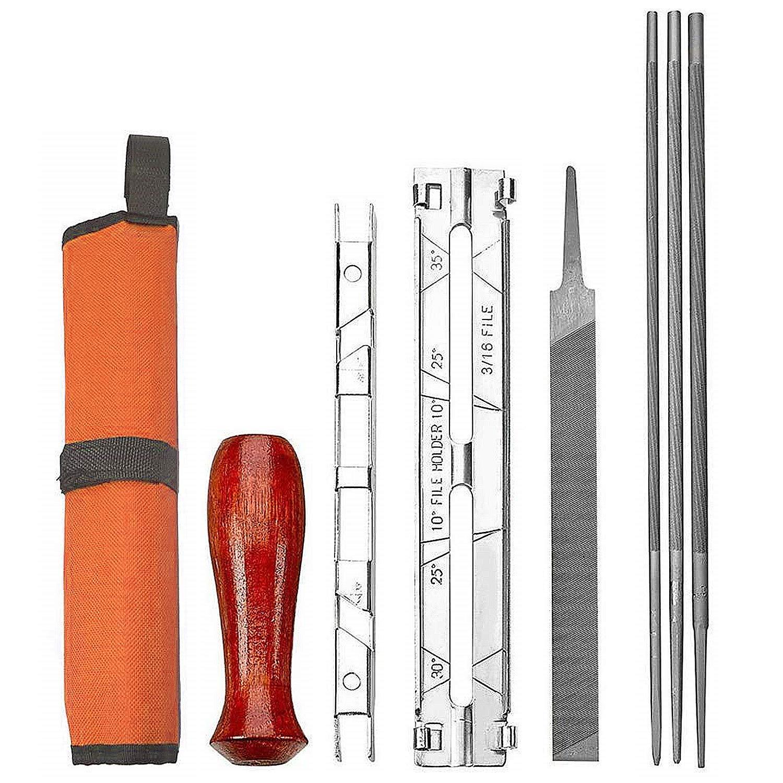 Codirom Chainsaw Sharpener File Kit Chainsaw Chain Sharpener Chain Parts Set for 5/32, 3/16, 7/32 Sharpening & Filing All Brand Chainsaws Blades by Codirom