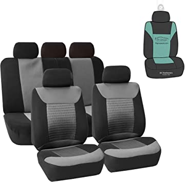 KIA SORENTO ALL YEARS ALPHA STYLE FRONT SEAT COVERS IN BLACK /& GREY 1+1