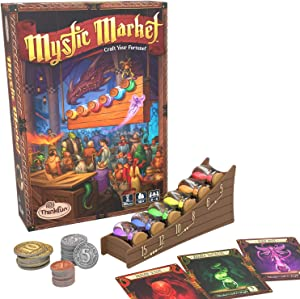 ThinkFun Mystic Market Strategy Card Game for 2-4 Players Ages 10 and Up – an Exciting Fast Paced Game Perfect for Both Families and Gamers, Multi