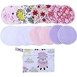 16(Pack) Reusable Bamboo Breast Pad Nursing Pads for Mum Washable Waterproof Pregnant 4.7 inch,Bamboo Fabric Material Inner/Reusable Nursing Pads