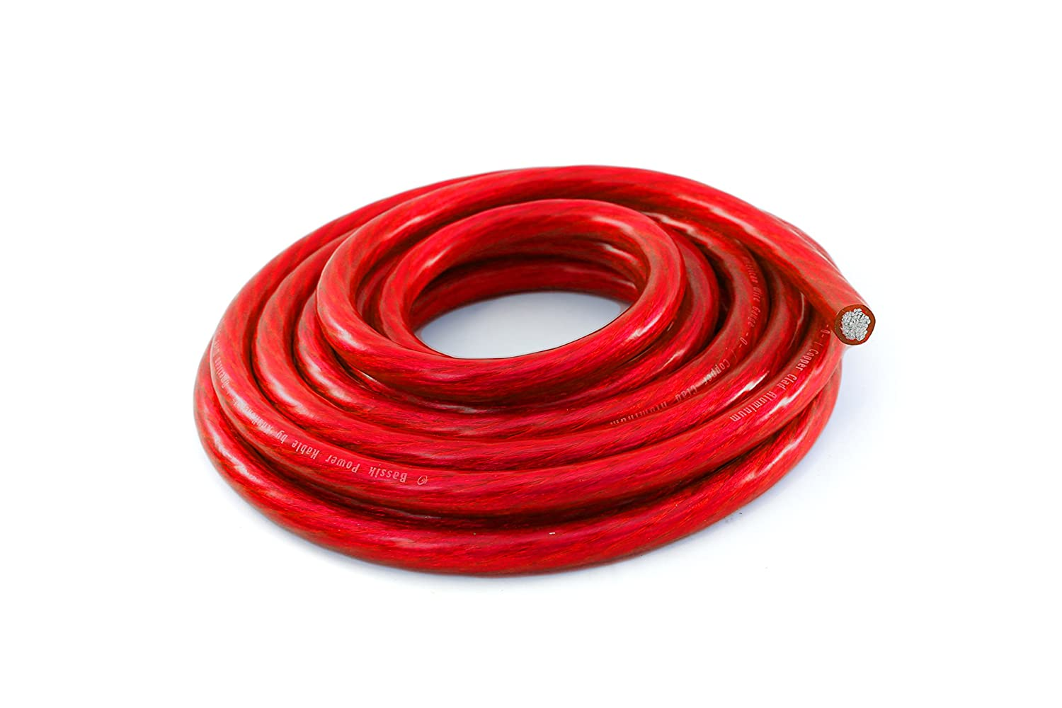 Ground Wire Cable Red 25 foot coil BK-PWR8R-25 KnuKonceptz Bassik 8 Gauge Power