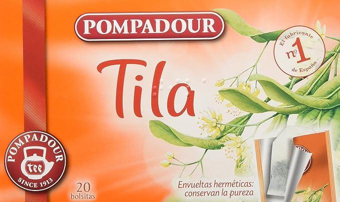 Pompadour Té Infusion Tila - 20 bolsitas - [Pack de 5]: Amazon.es ...