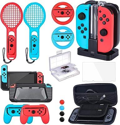 Zadii Accessories Bundle compatible con Nintendo Switch, kit de ...