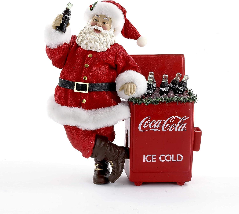 Coca-Cola Kurt Adler Fabriche Santa Cooler Table Piece, 11-Inch
