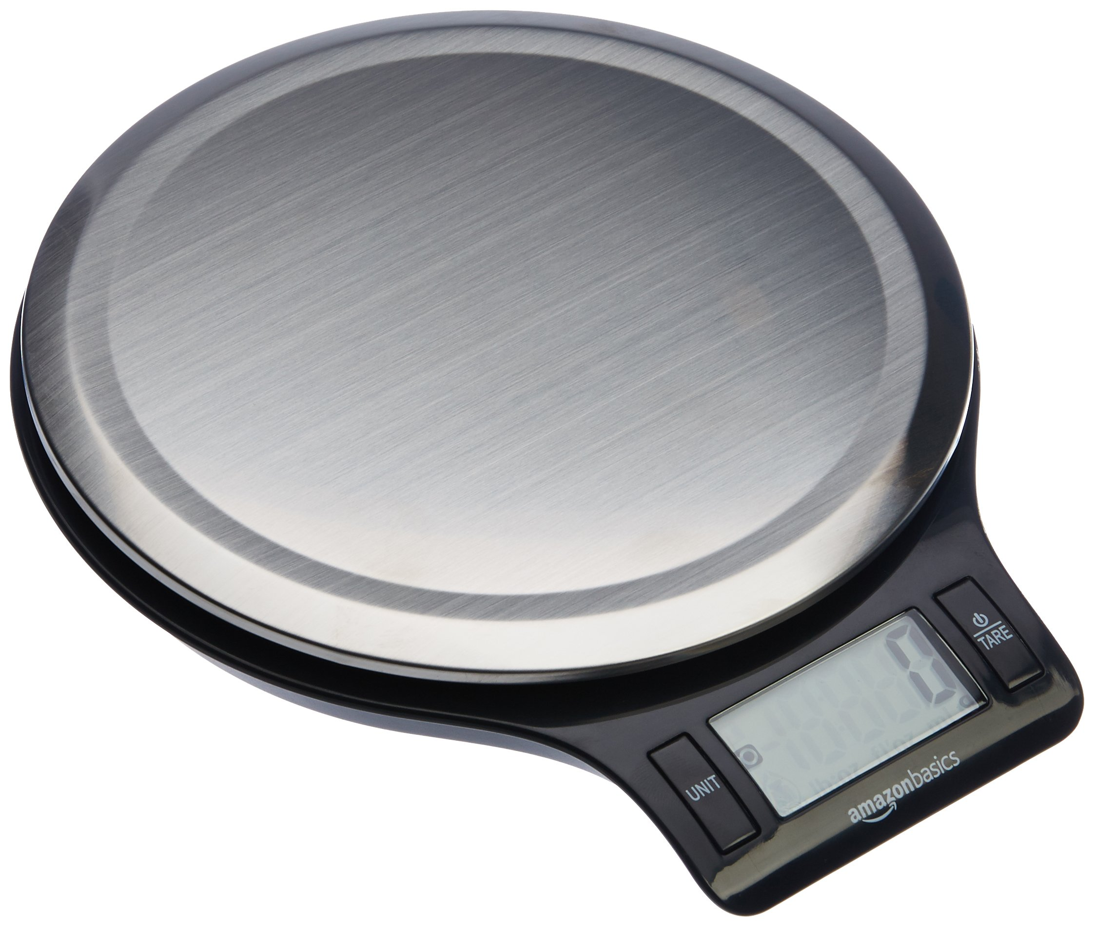 AmazonBasics Stainless Steel Digital Kitchen Scale with LCD Display, Batteries Included by AmazonBasics
