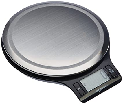 amazonbasics stainless steel digital kitchen scale with lcd display batteries included - Digital Kitchen Scale