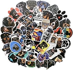 Rottweiler Stickers Cute Animal Dog Stickers For Kids and Teens 50Pcs Variety Vinyl Waterproof Car Sticker Motorcycle Bicycle Luggage Decal Graffiti Skateboard Stickers for Laptop Stickers(rottweiler)
