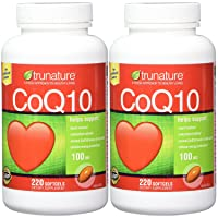 TruNature Coenzyme CoQ10 100 mg -Multi 2 Packk ( 220 Softgels Each)