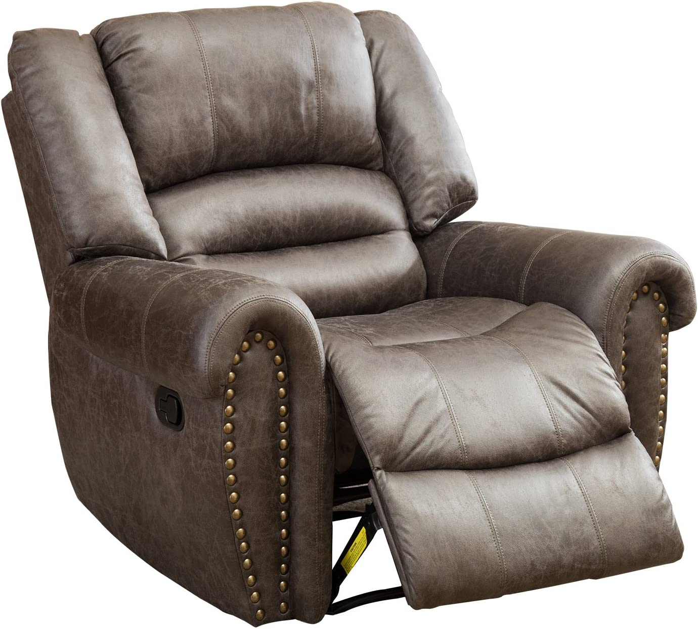 BONZY Oversized Recliner Leather Lounge Chair Reviews