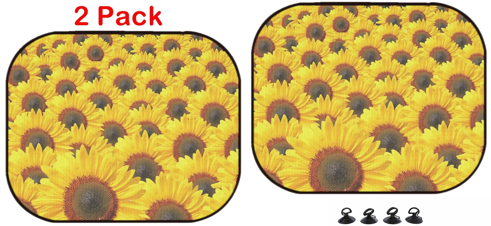 Luxlady Car Sun Shade Protector Block Damaging UV Rays Sunlight Heat for All Vehicles, 2 Pack Background of Isolated Bright Sunflowers Image ID 25482579 by Luxlady