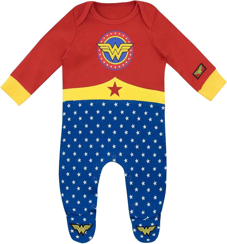 Wonder Woman - Pijama Entera para Niñas Bebés
