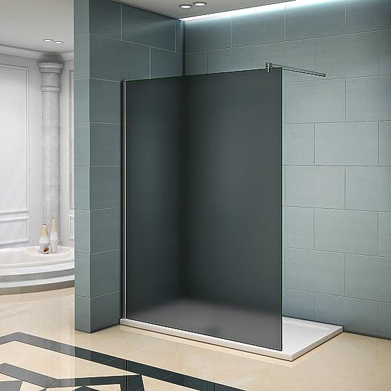 Mampara de ducha pared Walk In ducha Cristal separador con barra de estabilización: Amazon.es: Bricolaje y herramientas
