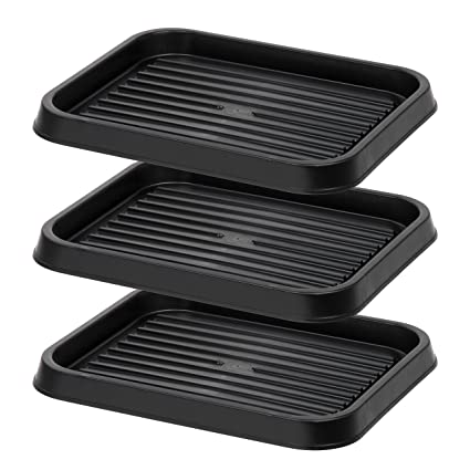 Amazon Com Iris Usa Sht S Shoe Tray Small Black Home Kitchen