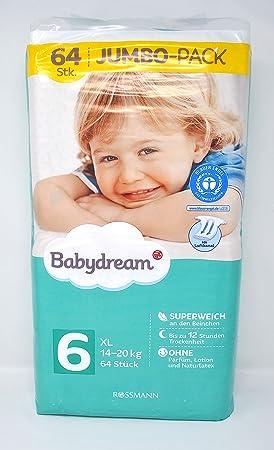 babydream XL pañales Jumbo Pack, 64 unidades): Amazon.es: Salud y cuidado personal