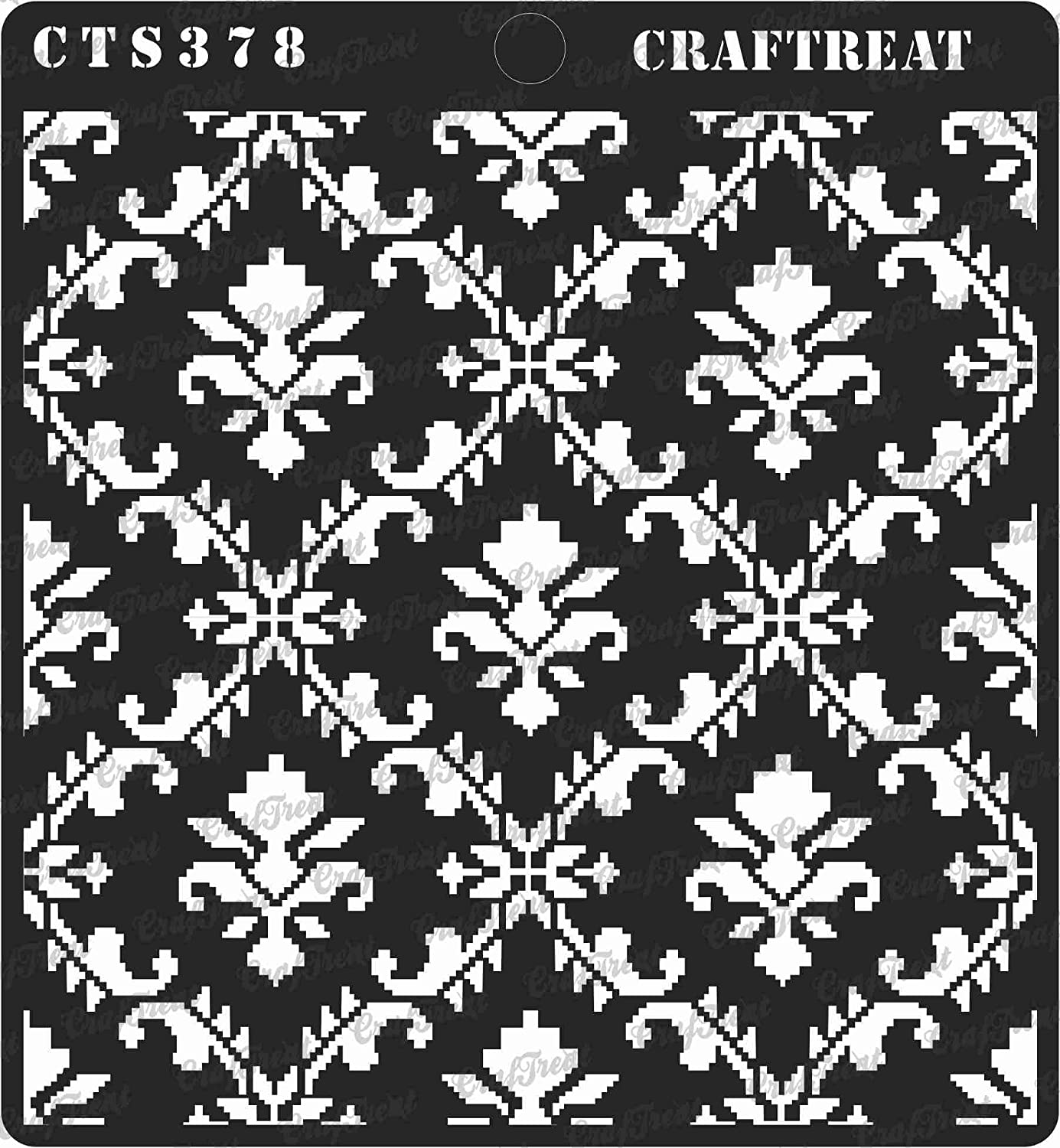 Wall DIY Albums Scattered Leaves and Foliage2 Scrapbook and Printing on Paper Crafting Tile CrafTreat Stencil - Reusable Painting Template for Home Decor 2 pcs Wood 6x6 inches Fabric