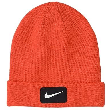 d77a02c57dc Nike Golf 2014 Mens Swoosh Patch Knit Beanie Hat Gamma Orange ...