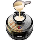 Chefman Belgian Waffle Maker, Patented No Overflow Perfect Pour Volcano Waffle Iron for Mess-& Stress-Free Waffles Best Small Appliance Innovation Award Winner-FREE Measuring Cup & Pour Spout-RJ04-4RV