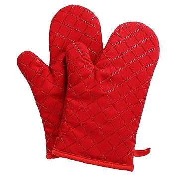 Aicok Oven Gloves Non-Slip Kitchen Oven Mitts Heat Resistant ...