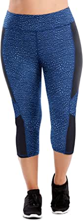 Just My Size womens OJ364 Active Pieced Stretch Capri Pants