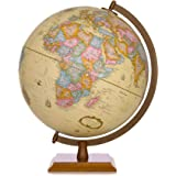 Aibecy Illuminated Globe World Earth 12 inch Tullurion Satellite /& Administrative Image Night View Nightlight with Magnifying Glass /& Wood Stand Geography Educational Tool Kid Toy G1201-LS