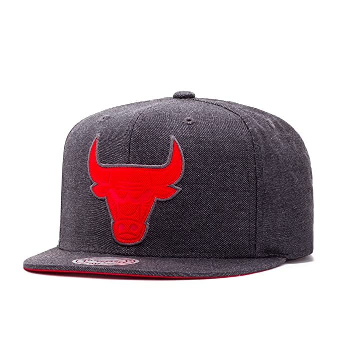 Mitchell & Ness Chicago Bulls Cut Heather Snapback Gorra black/red