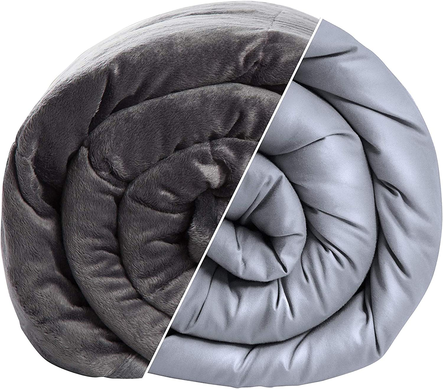 calming comfort reversible cooling weighted blanket by sharper image dual sided viscose bamboo soft velveteen for hot cold sleepers heavy
