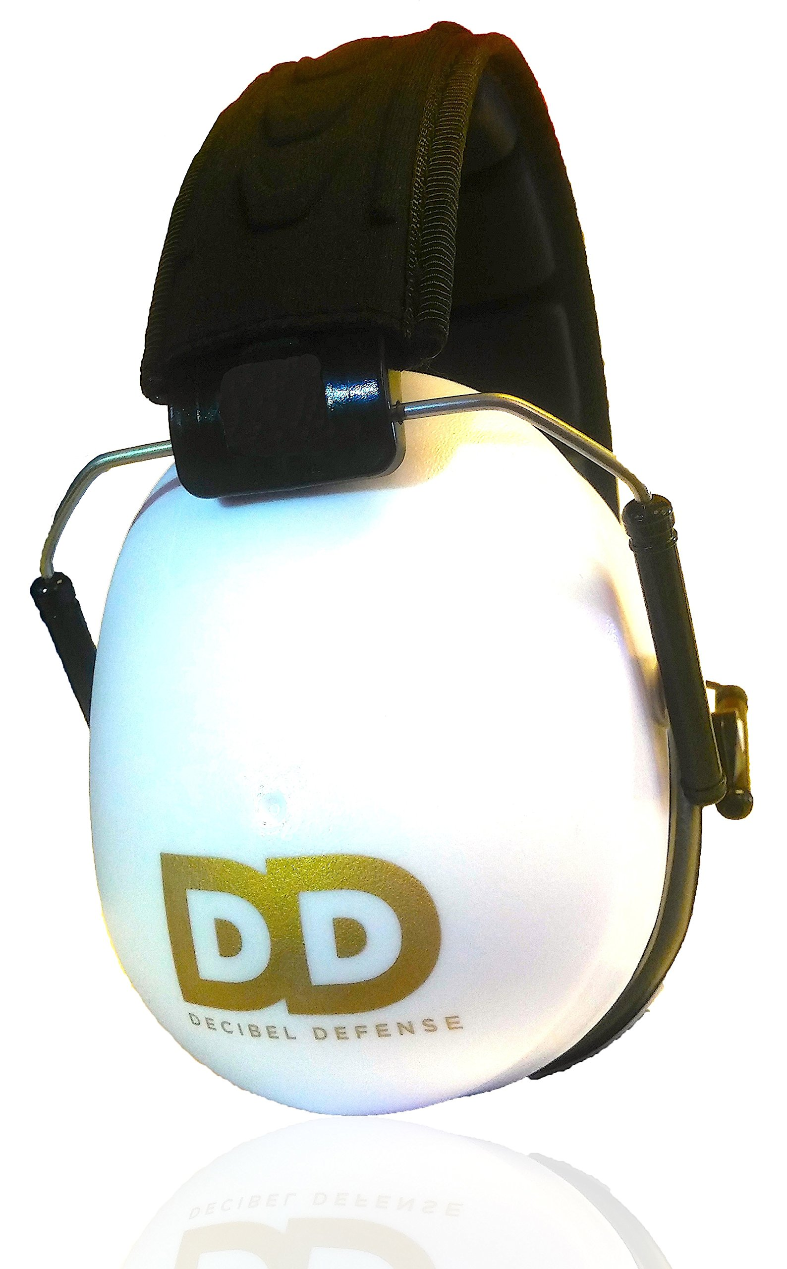 Professional Safety Ear Muffs by Decibel Defense - 37dB NRR - The HIGHEST Rated & MOST COMFORTABLE Ear Protection For Shooting & Industrial Use - THE BEST HEARING PROTECTION GUARANTEED! (WHITE) by DECIBEL DEFENSE